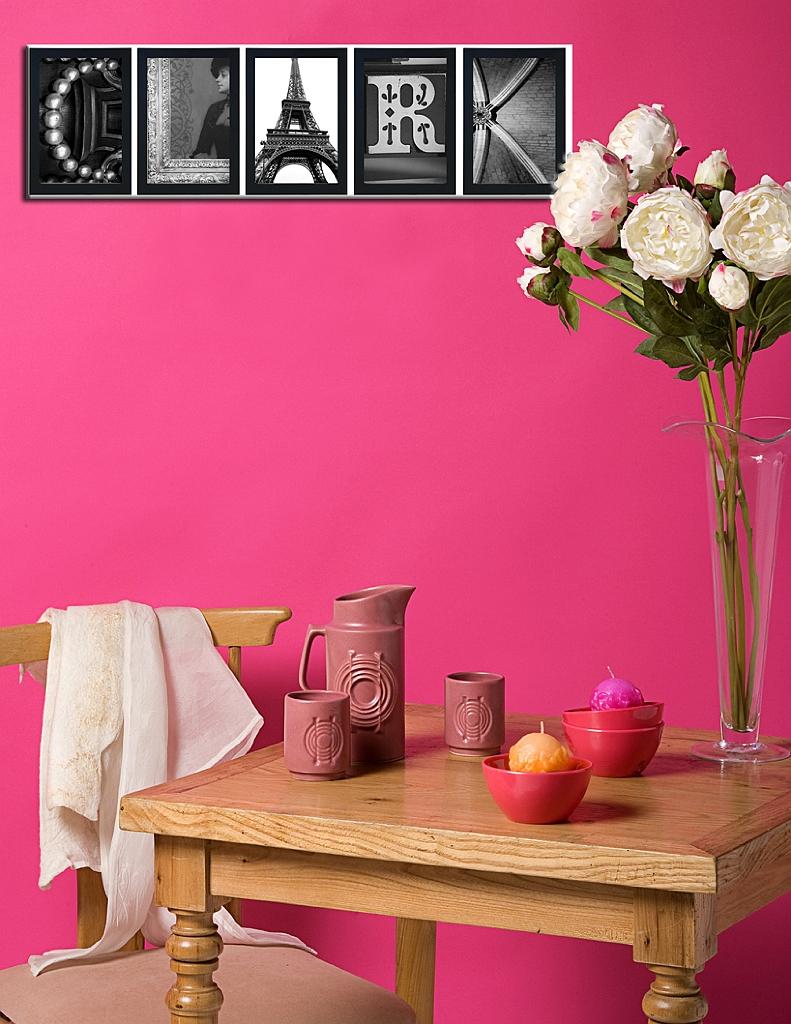 Alphabet Photos Home Decor Design Ideas