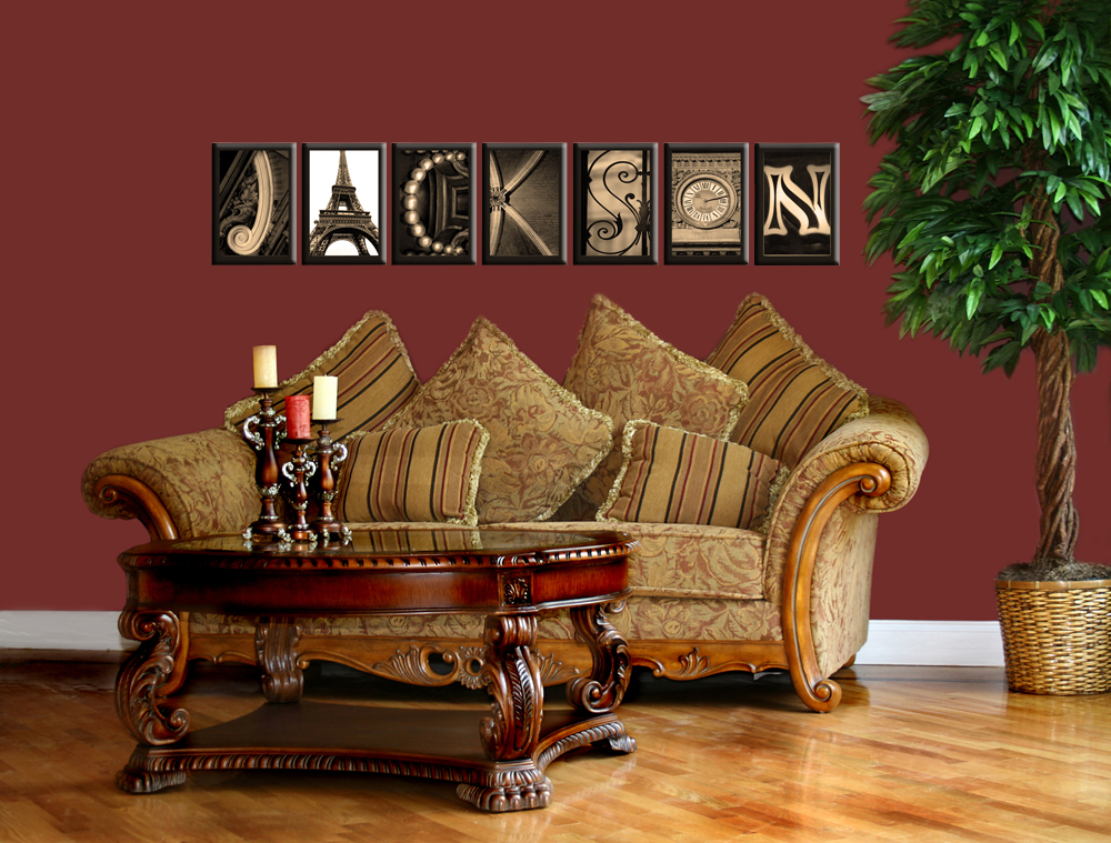 alphabet photos home decor design ideas holiday gift