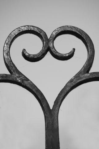 U Alphabet In Heart The Symbol heart_4 - Black & White - A&S